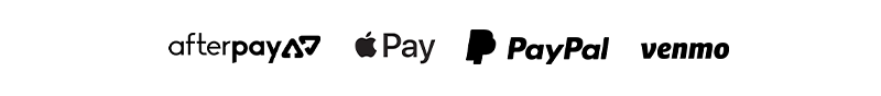 now accepting- afterpay | apple pay | paypal | venmo
